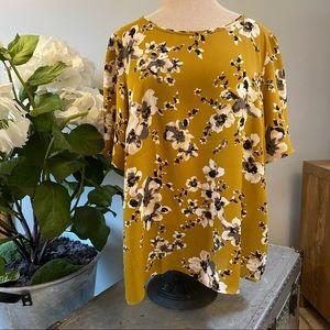 Ann Taylor floral print blouse